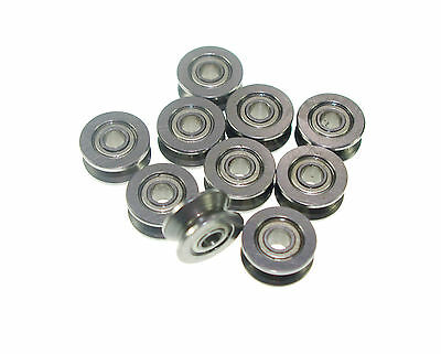 624VV 4mm V Groove Sealed Guide Pulley Rail Ball Bearing  4x13x6mm 4*13*6  x10