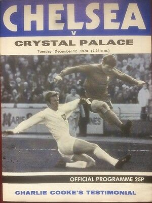 CHelsea v Crystal Palace MINT Charlie Cooke Testimonial 12th December 1978