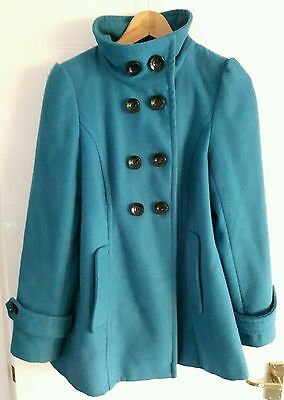 Teal Coat, Ideal For Maternity, Size 10