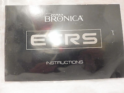 ZENZA BRONICA ETRS  Instructions (Instruction Booklet) MANUAL GUIDE BOOK