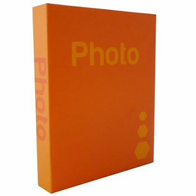Basic Orange 6.5x4.5 Slip In Photo Album - 300 Photos Overall Size 10.75x8""