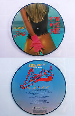 """Lee Marrow Featuring Lipstick – Do You Want PICTURE DISC 1990 12""""  Italo House"""