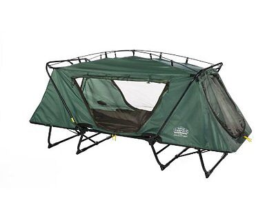 Kamp Rite Oversize Tent Cot Camping Bed Outdoor Portable Sleeping Green Rainfly