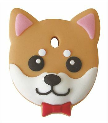 Shiba Inu (Sesame) - Dog Key Cover / Key Cap / Key Chain / Gift by Field Point