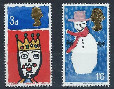 GB 1966 SG713/714 Christmas Set Mint MNH