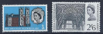 GB 1966 SG687/688 900th Anniversary of Westminster Abbey Set Mint MNH