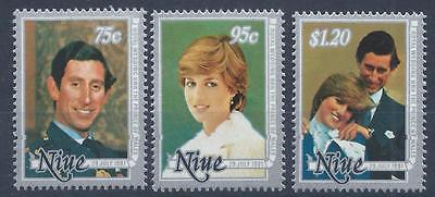NIUE 1981 SG430-432  Royal Wedding.  Princess Diana Set Mint MNH A'#005