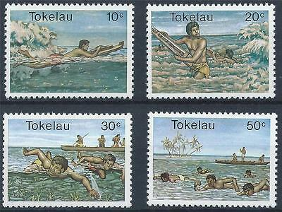 TOKELAU 1980 SG 73/76 Water Sports Set Mint MNH