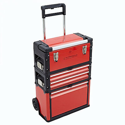 Trolley Tool Box Storage Chest Set with Four Ball Bearing Sliding Draws