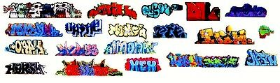 Ho Colorful Graffiti Decals Assortment 50  Free Shipping Domestic