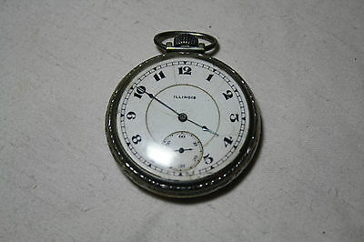 Vintage Illinois Watch Co Springfield Pocket Watch