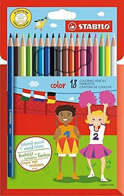 STABILO Color Colouring Pencil - Assorted Colours (Pack of 18)