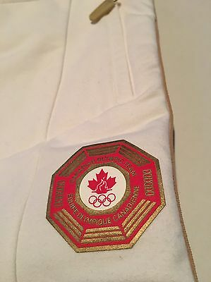 Canadian Olympic Team White & Red Capri Pants Women's Size M