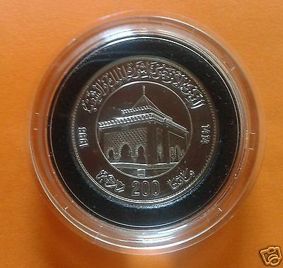 Morocco Commemorative Silver Coin 40Th Anniversary Revolution Mausoleum 1993