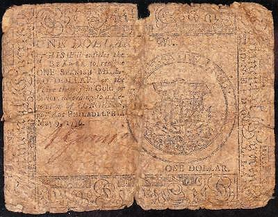 *RARE* May 9, 1776 Pennsylvania Colonial $1 Note! FREE SHIPPING!