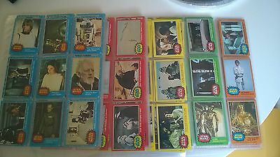 Star Wars Vintage 1977 Topps all 5 series 1-330 cards EX