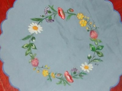 Vintage Hand Painted Tablecloth