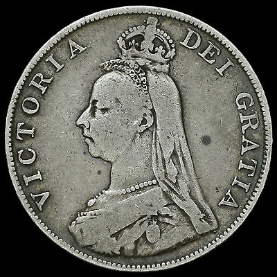 1890 Queen Victoria Jubilee Head Double Florin