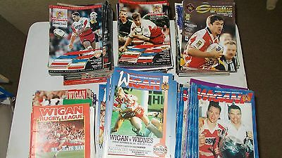 Wigan Rugby League Home Programmes 1990 - 1999 Choose individual items