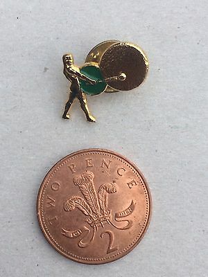 Very Small Rank Films Pin Badge (see pics) Film Movie Gong Man Logo