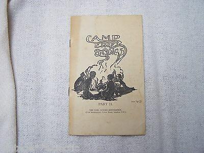 CAMP FIRE SONGS (PART II) GIRL GUIDES ASSOCIATION ~ OLD VINTAGE POSS 1920s?