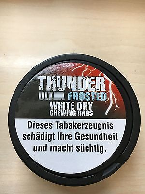 Thunder ULTRA STRONG WHITE Chewing Bag Frosted -kein Snus-