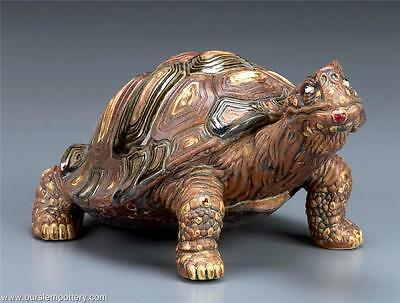 Burslem Pottery Grotesque Victor The Tortoise Inspired By Martin Brothers