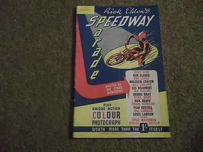Rare Vintage Rick Eldons Speedway Parade No 1 First Issue 1940S