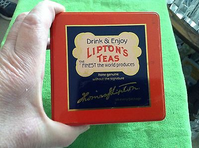 Metal Lipton tea tin
