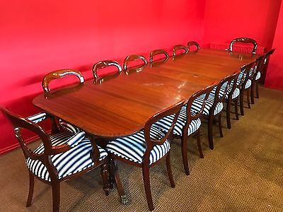 MAGNIFICENT 12ft REGENCY STYLE MAHOGANY TABLE, PRO HAND FRENCH POLISHED