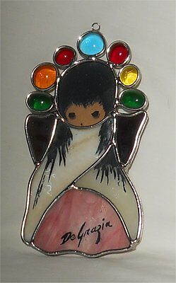 Degrazia Hanging Stained Glass Angel