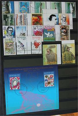 Slovenia 1997   Lot Used stamps  with  original  full  glue