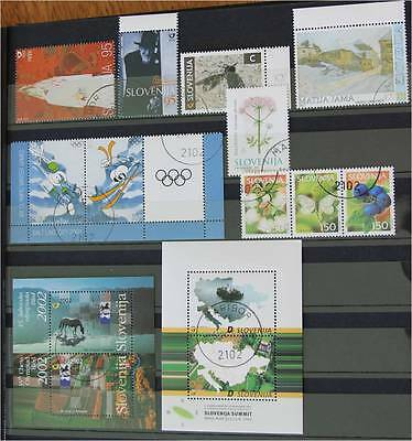 Slovenia 2002   Lot Used stamps