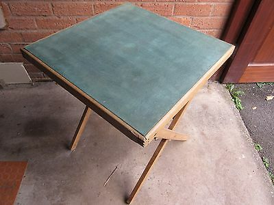 Vintage green baize card table