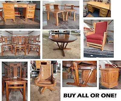 A. Brandt RANCH OAK furniture pair step end tables Monterey 1-1/2 hrs from L.A.