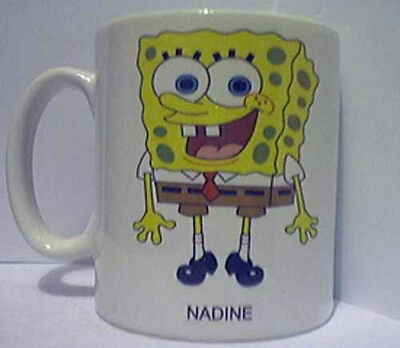 Personalised Spongebob  Mug Cup Add Your Own Name free