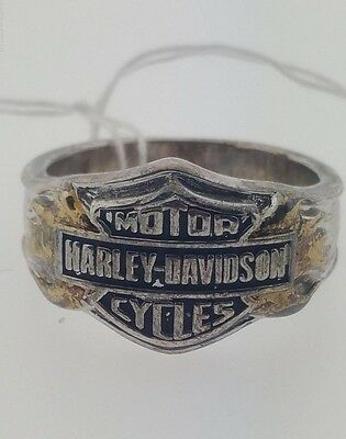 Silver Harley Davidson Motorcycles Ring Sterling 925 Size 12