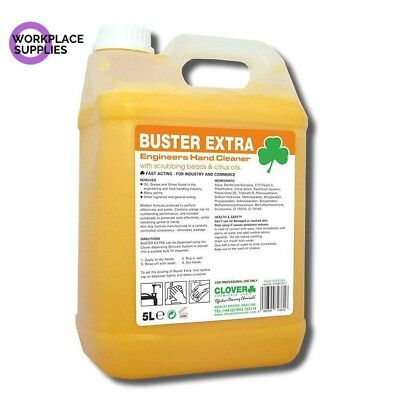 Clover Buster Extra 5Ltr, Engineers Hand Cleaner, Beaded Scrub, Free P&P. 415
