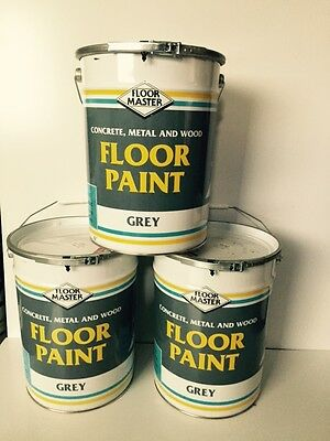 Industrial Garage Floor Paint Grey 20ltrs tel jason on 07921517559