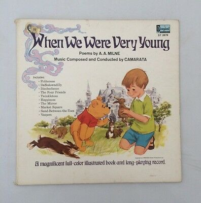 When We Were Very Young Disney Vinyl Record.