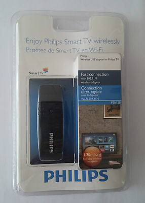 New Philips PTA128 Wireless USB Adapter for Philips TV (PFL32x8 Series)