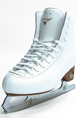 Risport RF light junior Figure Skates White COMPLETE WITH BLADES - Free Postage