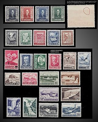 1952 To 1956 Iceland Mint Never Hinged - See Details - Lot