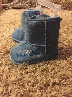 "Boots: Warm 6-12mos ""Surfer"" Boot Blue"