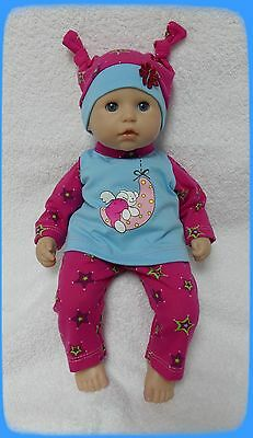 """Beautiful Dolls clothes to fit baby Annabell dolls 14""""..............."""