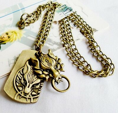Kette mit Anhänger neu Final Fantasy Cloud Löwe necklace anime manga cosplay