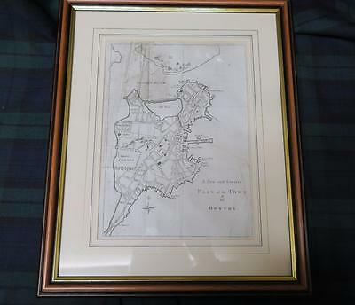Antique MAP 1775 A New and Correct Plan of The Town of Boston Sylvanus Urban