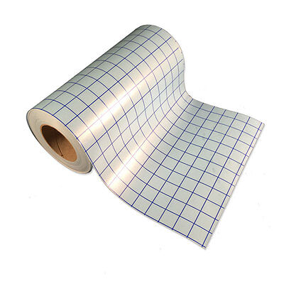 """12""""x5'-1 roll Clear Transfer Tape lined w/blue Grid-Adhesive Vinyl-Craft Project"""