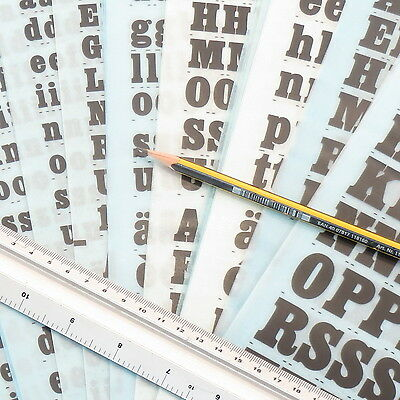 Letraset EGYPTIENNE BOLD CONDENSED Rub On Transfer Letters CHOOSE SIZE+Discounts