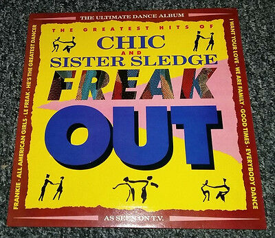 CHIC & SISTER SLEDGE Freak Out LP nMINT UK 1987 Greatest Hits Best Of